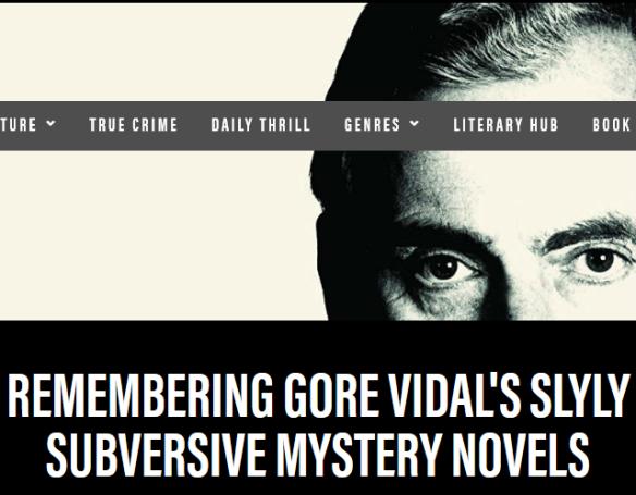 Remembering Gore Vidal's Slyly Subversive Mystery Novels